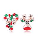 hesapli Küpeler-Kadın's Uyumsuz Vidali Küpeler - Elk Bayan, Avrupa, Moda, sevimli Stil Mücevher Altın Uyumluluk Noel Günlük / 1 çift