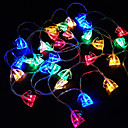 cheap LED String Lights-3m String Lights 30 LEDs Dip Led Warm White / White / Red Decorative AA Batteries Powered 1pc