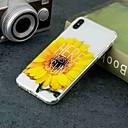 저렴한 아이폰 케이스-케이스 제품 Apple iPhone XR / iPhone XS Max 투명 / 패턴 뒷면 커버 꽃장식 소프트 TPU 용 iPhone XS / iPhone XR / iPhone XS Max