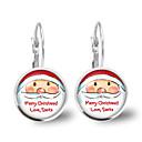 Χαμηλού Κόστους Σκουλαρίκια-Γυναικεία Κρυστάλλινο Κλασσικό Σκουλαρίκια με Κλιπ Σκουλαρίκι - Santa Suits Γράμμα κυρίες Κινούμενα σχέδια Μοντέρνα χαριτωμένο στυλ Κοσμήματα Ασημί Για Χριστούγεννα Πάρτι / Βράδυ 1 Pair