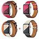 baratos Acessórios & Roupas para Cachorros-Pulseiras de Relógio para Apple Watch Series 4/3/2/1 Apple Pulseira de Couro Couro Legitimo Tira de Pulso