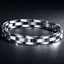 hesapli Yüzükler-z&(hassas ciltler için uygundur) X® Avrupa tarzı lüks 1.5cm genişlik titanyum çelik erkek bilezik