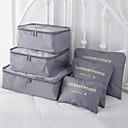رخيصةأون قلادات-6 مجموعات حقيبة السفر / منظم السفر / منظم أغراض السفر سعة كبيرة / مقاوم للماء / المحمول الصدرية / ملابس أكسفورد القماش الخارج / السفر / للبيت / مضاعف