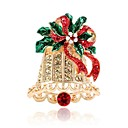 cheap Brooches-Women's 3D Brooches - Rhinestone Bell Ladies, Simple Brooch Jewelry Gold For Christmas