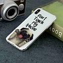 olcso iPhone tokok-Case Kompatibilitás Apple iPhone XR / iPhone XS Max Átlátszó / Minta Fekete tok Kutya Puha TPU mert iPhone XS / iPhone XR / iPhone XS Max