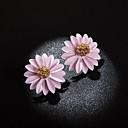 저렴한 귀걸이-여성용 멀티 레이어 스터드 귀걸이 귀걸이 꽃잎 숙녀 한국어 보석류 옐로우 / 그린 / 밝은 핑크 제품 일상 1 쌍