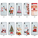 cheap iPhone Cases-Case For Apple iPhone XS / iPhone XS Max Transparent / Pattern Back Cover Christmas Soft TPU for iPhone XS / iPhone XR / iPhone XS Max