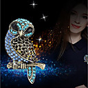 cheap Brooches-Women's 3D Brooches - Rhinestone Owl Ladies, Stylish, Unique Design Brooch Jewelry Blue For Daily
