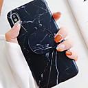 ieftine Cercei-Maska Pentru Apple iPhone XS / iPhone XR / iPhone XS Max Cu Stand / IMD / Model Capac Spate Marmură Moale TPU