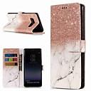 abordables Outils & Accessoires DIY-Coque Pour Samsung Galaxy Note 9 / Note 8 Portefeuille / Porte Carte / Avec Support Coque Intégrale Marbre Dur faux cuir pour Note 9 / Note 8