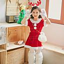 Χαμηλού Κόστους Αξεσουάρ Wii-Στολές Ηρώων Santa Clothe Παιδικά Κοριτσίστικα Χριστούγεννα Χριστούγεννα Απόκριες Η Μέρα των Παιδιών Γιορτές / Διακοπές Πολυεστέρας Ρουμπίνι Αποκριάτικα Κοστούμια Διακοπών