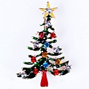 cheap Brooches-Women's Hollow Out Brooches - Christmas Tree Simple Brooch Gold For Christmas