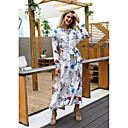 preiswerte Romantische Spitze-Damen Grundlegend Hülle Kleid - Druck, Geometrisch Maxi V-Ausschnitt