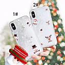 baratos Capinhas para iPhone-Capinha Para Apple iPhone XS / iPhone XS Max Liquido Flutuante / Estampada Capa traseira Natal Rígida PC para iPhone XS / iPhone XR / iPhone XS Max