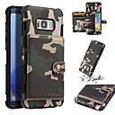 رخيصةأون Lenovo أغطية / كفرات-غطاء من أجل Samsung Galaxy S8 Plus / S8 محفظة / حامل البطاقات / ضد الصدمات غطاء خلفي تمويه ناعم جلد PU