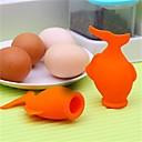 abordables Herramientas y Utensilios de Cocina-Silicona Utensilios para huevos Utensilios Cocina creativa Gadget Utensilios de cocina herramientas para huevo 1pc