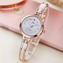 זול שרשרת אופנתית-בגדי ריקוד נשים שעון צמיד שעון יד שעון זהב קווארץ חפת שנהב שעונים יום יומיים אנלוגי נשים אלגנטית מינימליסטי - פנינה זהב / לבן