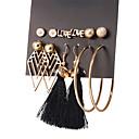 ieftine Cercei-Pentru femei Cercei Set Scrisă Minge Ciucure Modă cercei Bijuterii Auriu Pentru Zilnic Mascaradă 6 perechi