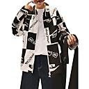 זול אביזרים ובגדים לכלבים-בגדי ריקוד גברים שחור אודם XXXL 4XL XXXXXL ג'קט קולור בלוק צווארון חולצה / שרוול ארוך