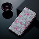 economico Custodie / cover per Galaxy serie S-Custodia Per Samsung Galaxy S9 Plus / S9 Porta-carte di credito / Con supporto / Con chiusura magnetica Integrale Fiore decorativo Resistente pelle sintetica per S9 / S9 Plus / S8 Plus
