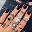 olcso Divat nyaklánc-Női Gyűrű készlet / Midi gyűrűk / Halmozott gyűrűk Kristály 11db Ezüst Ötvözet Geometric Shape hölgyek / Vintage / Bohém Ajándék / Estély Jelmez ékszerek
