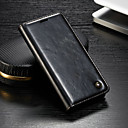 Недорогие Часы для Samsung-Кейс для Назначение Sony Sony Xperia XZ3 / Xperia XZ2 Compact / Xperia XZ2 Кошелек / Бумажник для карт / со стендом Чехол Однотонный Твердый Кожа PU
