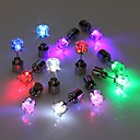 preiswerte Ohrringe-2pcs LED Ohrring leuchtet Krone leuchtenden Kristall Edelstahl Ohr Drop Ohr Ohrstecker Schmuck