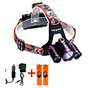 cheap Android-U'King ZQ-X826 Headlamps Headlight 3000 lm LED Cree® XM-L T6 3 Emitters 4 Mode with Batteries and Chargers Zoomable Adjustable Focus Rechargeable Camping / Hiking / Caving Hunting Fishing