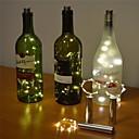 رخيصةأون Home Fragrances-2m 6.56ft 20 led botella de vino luz de corcho estrellado luces de cadena de alambre de cobre para botella decoración de mesa diy fiesta de bodas de navidad con batería 1 paquete