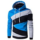 cheap Car Chargers-Men's Basic Hoodie - Color Block Blue & White Navy Blue L