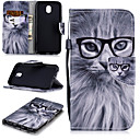 cheap Galaxy J Series Cases / Covers-Case For Samsung Galaxy J5 (2017) Wallet / Card Holder / Shockproof Full Body Cases Cat Hard PU Leather for J5 (2017)