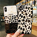 olcso iPhone tokok-Case Kompatibilitás Apple iPhone X / iPhone XS Max Ütésálló / Porálló Fekete tok Leopárd minta Puha TPU mert iPhone XS / iPhone XR / iPhone XS Max