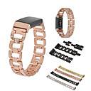 cheap Watch Bands for Fitbit-Watch Band for Fitbit Charge 3 Fitbit Sport Band / Jewelry Design Stainless Steel Wrist Strap