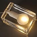 رخيصةأون ديكورات خشب-1PC مكعبات ثلج الصمام ليلة الخفيفة أصفر دس بالطاقة إبداعي 220-240 V
