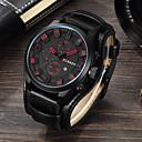 Недорогие Чехлы и кейсы для Galaxy S6-Муж. Спортивные часы Нарядные часы Наручные часы Японский Кварцевый Спортивные Натуральная кожа Черный / Коричневый Защита от влаги Календарь Повседневные часы Аналоговый Классика Мода -