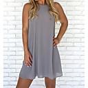 رخيصةأون أساور ساعات FitBit-فستان نسائي قياس كبير كلاسيكي عصري أساسي فوق الركبة لون سادة خصر عالي شاطئ / مثير