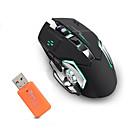お買い得  マウス-OEM ワイヤレス2.4G 光学 ゲーミングマウス LEDライト 2400 dpi 3調整可能なDPIレベル 6 pcs キー 2つのプログラム可能なキー