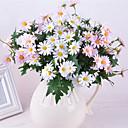 رخيصةأون أزهار اصطناعية-زهور اصطناعية 1 فرع كلاسيكي الحديث النمط الرعوي الإقحوانات أزهار الطاولة