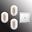 voordelige Deurbelsystemen-Draadloos Een tot drie deurbel Muziek / Ding Dong Niet-visuele deurbel
