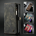 cheap Galaxy S Series Cases / Covers-CaseMe Case For Samsung Galaxy Galaxy S10 Wallet / Card Holder / with Stand Full Body Cases Solid Colored Hard PU Leather for Galaxy S10