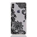 رخيصةأون أغطية أيفون-غطاء من أجل Apple iPhone XS / iPhone XR / iPhone XS Max شفاف / نموذج غطاء خلفي الطباعة الدانتيل / زهور ناعم TPU