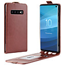 cheap Galaxy S Series Cases / Covers-Case For Samsung Galaxy Galaxy S10 / Galaxy S10 E Card Holder / Flip Full Body Cases Solid Colored Hard PU Leather for S9 / S9 Plus / Galaxy S10
