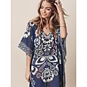 ieftine Ceasuri Bărbați-Pentru femei Bleumarin Fustă Șal Costume de Baie - Geometric Mărime unică Bleumarin