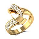 ieftine Inele-Pentru femei Roșu Alb Zirconiu Cubic Inel de declarație Placat Auriu Stilat European Hiperbolă Inele la Modă Bijuterii Galben Pentru Nuntă Cadou Dată 6 / 7 / 8 / 9 / 10