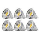 ieftine Becuri LED Corn-6pcs 3 W Spoturi LED 250 lm MR16 MR16 6 LED-uri de margele COB Petrecere Decorativ Crăciun decor de nunta Alb Cald Alb Rece 12 V / RoHs