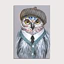 رخيصةأون قبعات الرجال-هانغ رسمت النفط الطلاء رسمت باليد - تجريدي فن البوب معاصر الحديث تشمل الإطار الداخلي