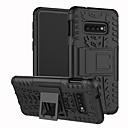 levne Galaxy S pouzdra / obaly-Carcasă Pro Samsung Galaxy Galaxy S10 / Galaxy S10 Plus Nárazuvzdorné / se stojánkem Zadní kryt Jednobarevné / Geometriské vzory Pevné TPU pro S9 / S9 Plus / S8 Plus