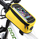 رخيصةأون قفازات الدراجات النارية-ROSWHEEL 1.3 L حقيبة الهاتف الخليوي حقيبة دراجة الإطار مكتشف الرطوبة سوستة مقاومة للماء يمكن ارتداؤها حقيبة الدراجة PVC تيريليني شبكة حقيبة الدراجة حقيبة الدراجة iPhone X / iPhone XR / iPhone XS