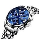 ieftine Ciocan de lipit & Accesorii-Bărbați Ceas Elegant Aviation Watch Japoneză Quartz Oțel inoxidabil Negru / Argint / Auriu 30 m Rezistent la Apă Cronograf Creative Analog Lux Modă Aristo - Argintiu Albastru Aur / argint / alb Doi