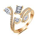 저렴한 반지-여성용 모조 큐빅 열기 반지 구리 세련 단순한 패션 반지 보석류 골드 / 실버 / 로즈 제품 파티 약혼 선물 행사